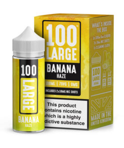 100 Large -Banana Haze 100ml Short Fill Including Nic Shots