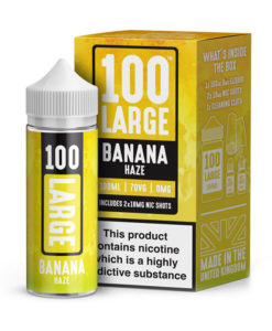 100 Large -Banana Haze 100ml Short Fill Including Nic Shots