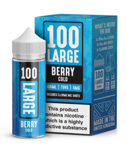 100 Large - Berry Cold 100ml Short Fill Including Nic Shots