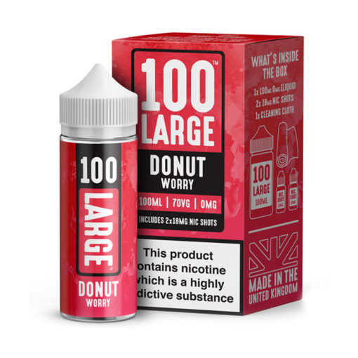 100 Large - Donut Worry 100ml Short Fill Including Nic Shots