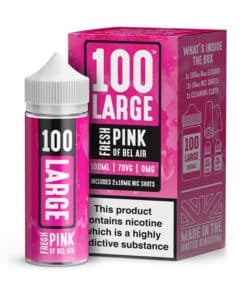 100 Large - Fresh Pink of Bel Air 100ml Short Fill Including Nic Shots