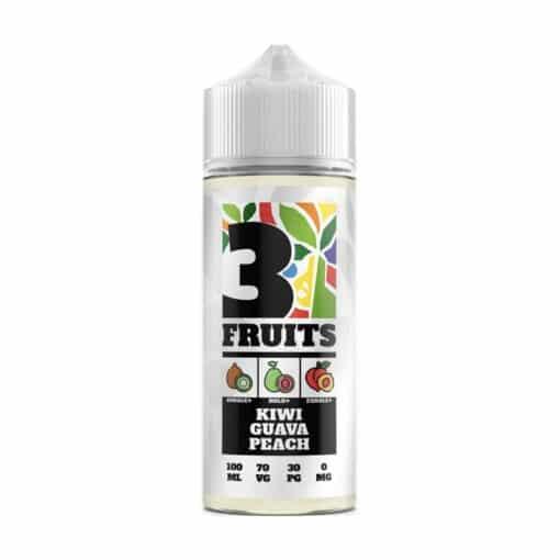 3 Fruits - Kiwi Guava Peach 100ml 0mg Short Fill