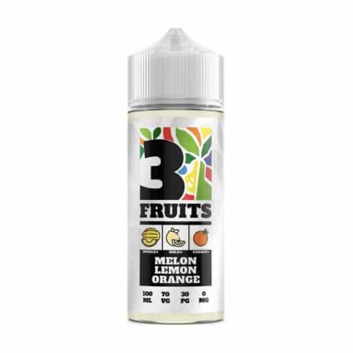 3 Fruits - Melon Lemon Orange 100ml 0mg Short Fill