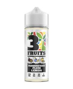 3 Fruits - Passionfruit Plum Lemon 100ml 0mg Short Fill