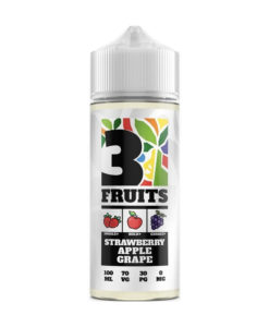 3 Fruits - Strawberry Apple Grape 100ml 0mg Short Fill