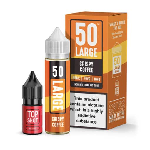 50 Large - Crispy Coffee 50ml Short Fill + Nic Shot