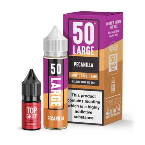 50 Large - Pecanilla 50ml Short Fill + Nic Shot
