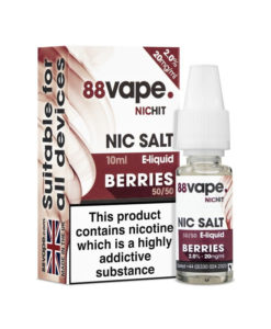 88Vape Nic Salt - Berries 10ml 20mg