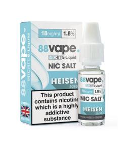 88Vape - Heisen 18mg Nic Salt