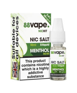 88Vape Nic Salt - Menthol 10ml 20mg