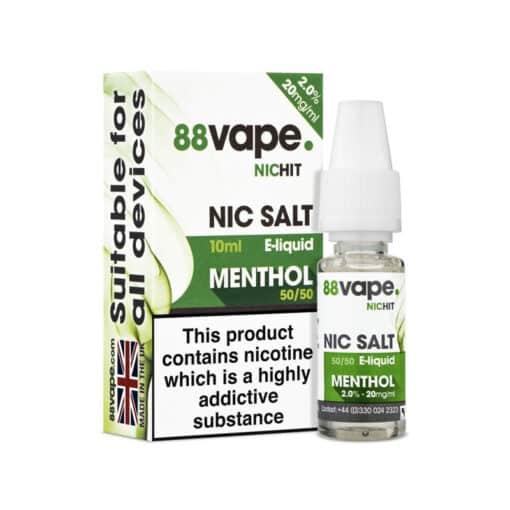 88Vape Nic Salt - Menthol 10ml 20mg