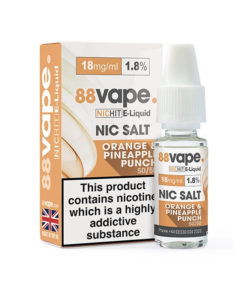 88Vape - Orange & Pineapple Punch 18mg Nic Salt