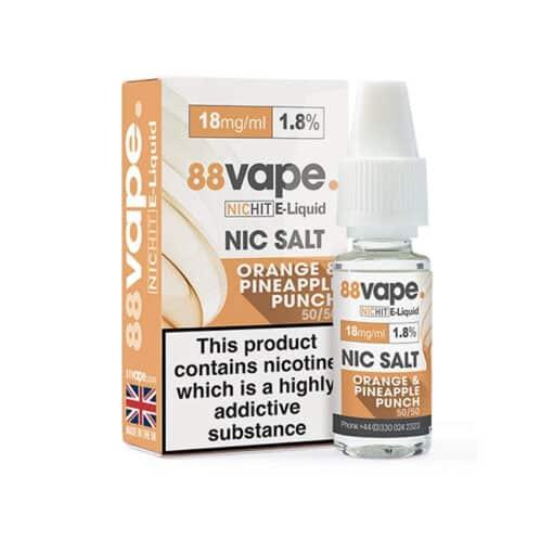 88Vape - Orange & Pineapple Punch 18mg Nic Salt
