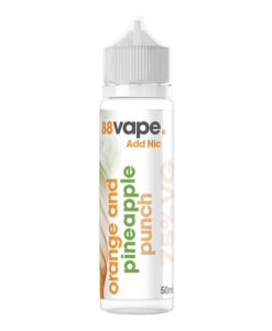 88Vape - Orange & Pineapple Punch 50ml Eliquid Short Fill