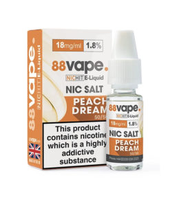 88Vape - Peach Dream 18mg Nic Salt