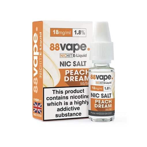 88Vape - Peach Dream 18mg Nic Salt