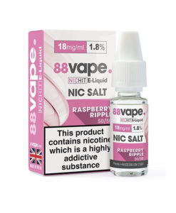 88Vape - Raspberry Ripple 18mg Nic Salt