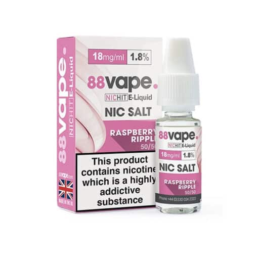 88Vape - Raspberry Ripple 18mg Nic Salt
