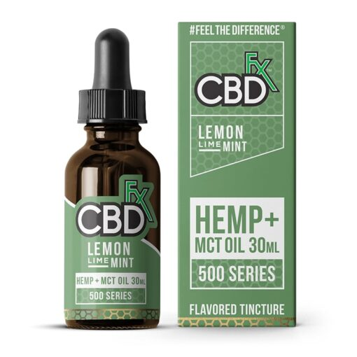 CBDfx - Lemon Lime Mint CBD Tincture MCT Oil