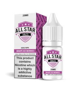 All Star Salts - Grape Iced Berries Nic Salt 20mg