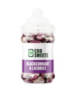CBD Asylum - Blackcurrant & Liquorice 25MG Per Sweet