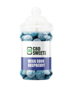 CBD Asylum - Mega Sour Raspberry 25MG Per Sweet