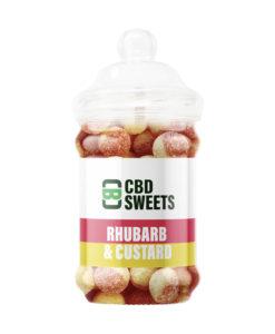 CBD Rhubarb & Custard Sweets by CBD Asylum
