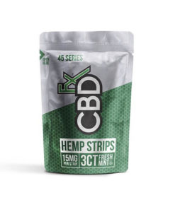 CBDfx 45mg 3 Piece Fresh Mint Strips