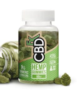 CBDfx Hemp Gummies with Turmeric & Spirulina