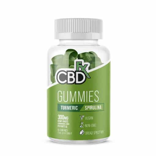 CBDfx Tumeric Spirulina Gummies