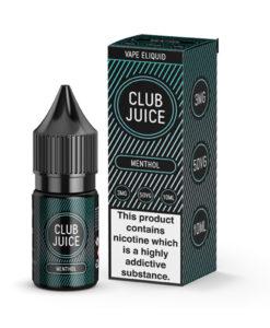 Club Juice Vape Liquid Menthol