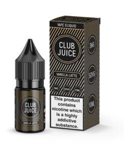 Club Juice Vape Liquid Vanilla Latte