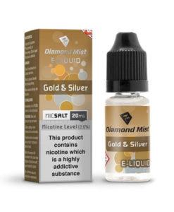 Diamond Mist Nic Salt - Gold & Silver 10ml 20mg