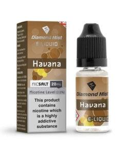 Diamond Mist Salts - Havana 10ml 20mg Nic Salt