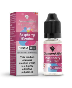 Diamond Mist Nic Salt - Raspberry Menthol 10ml 20mg