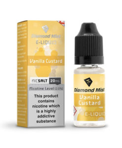 Diamond Mist Nic Salt - Vanilla Custard 10ml 20mg