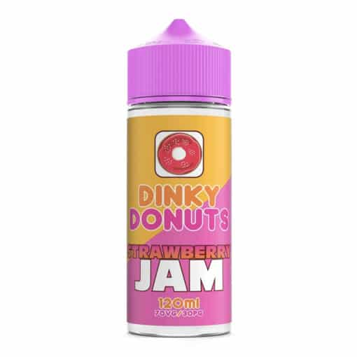 Dinky Donuts - Strawberry Jam Donut 100ml 0mg Short Fill