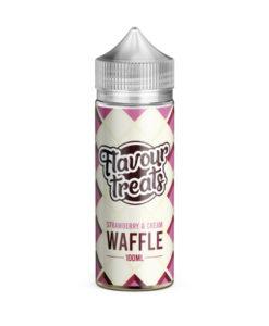 Flavour Treats - Strawberry & Cream Waffle 100ml E-Liquid