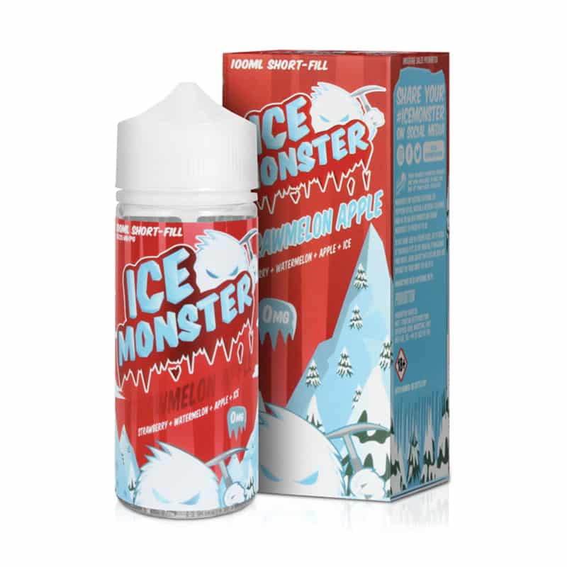 Ice Monster - Strawmelon Apple 100ml Short Fill