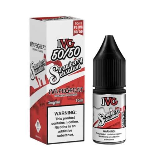 I VG - Strawberry Sensation 50/50 Eliquid