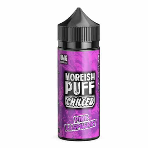 Moreish Puff Chilled - Pink Raspberry Chilled 100ml 0mg