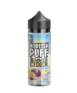 Moreish Puff - Summer Cider Passionfruit on Ice 100ml Eliquid
