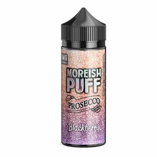 Moreish Puff Prosecco - Blackberry Prosecco 100ml Short Fill