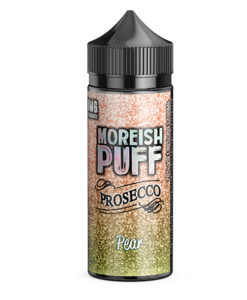 Moreish Puff Prosecco - Pear Prosecco 100ml Short Fill