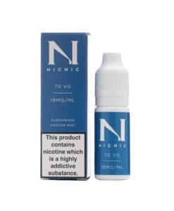 NicNic - 70% VG 18mg Nicotine Shot