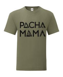 Pacha Mama Olive Green Logo Tee