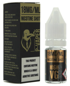 P-Vaper 18mg Nicotine Shot 10ml