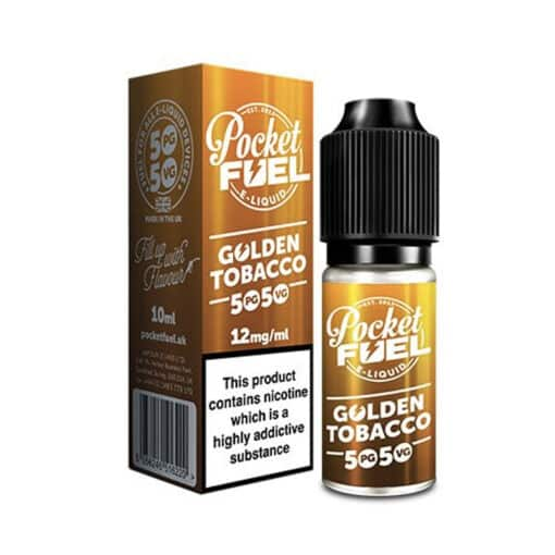 Pocket Fuel 50/50 - Golden Tobacco 10ml