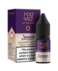 Pod Salt Fusions - Jammin - Blueberry Jam Tart 36mg Nic Salt