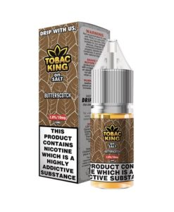 Tobac King on Salt Iced - Butterscotch 10ml Nicotine Salt